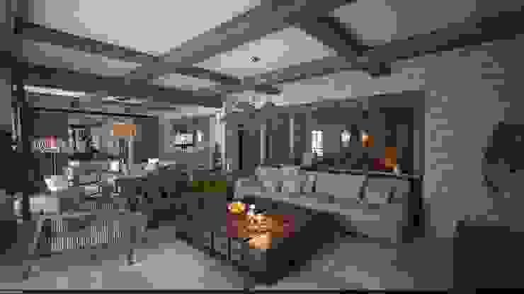 Bodrum / Yalıkavak villa projesi Akdeniz Oturma Odası 5K MİMARLIK Akdeniz Ahşap Ahşap rengi