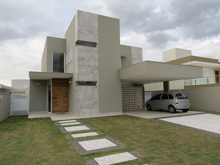 Maisons modernes par Habitat arquitetura Moderne Céramique