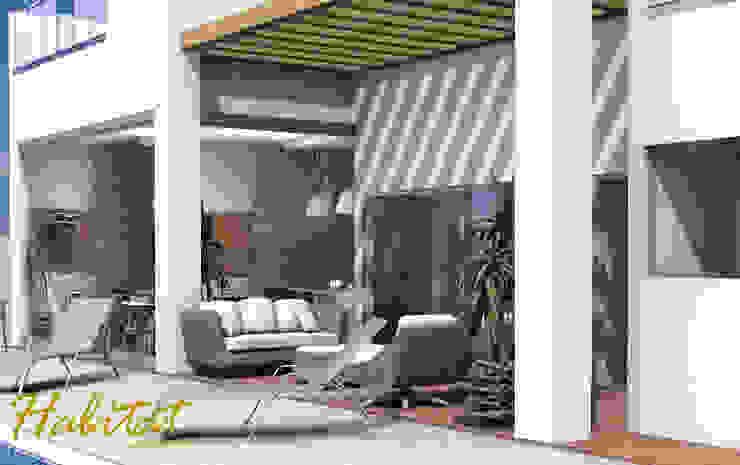 Habitat arquitetura Maisons tropicales Bois Beige