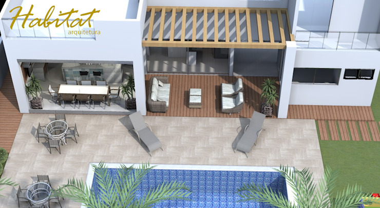 Habitat arquitetura Piscinas de estilo tropical Mármol Turquesa