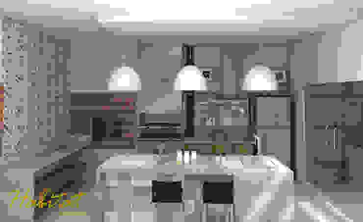 Habitat arquitetura Modern kitchen Ceramic Turquoise