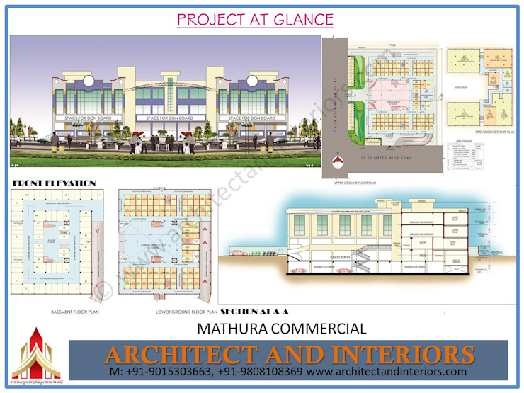 Mathura commercial by Absolute Architect and Interiors Colonial