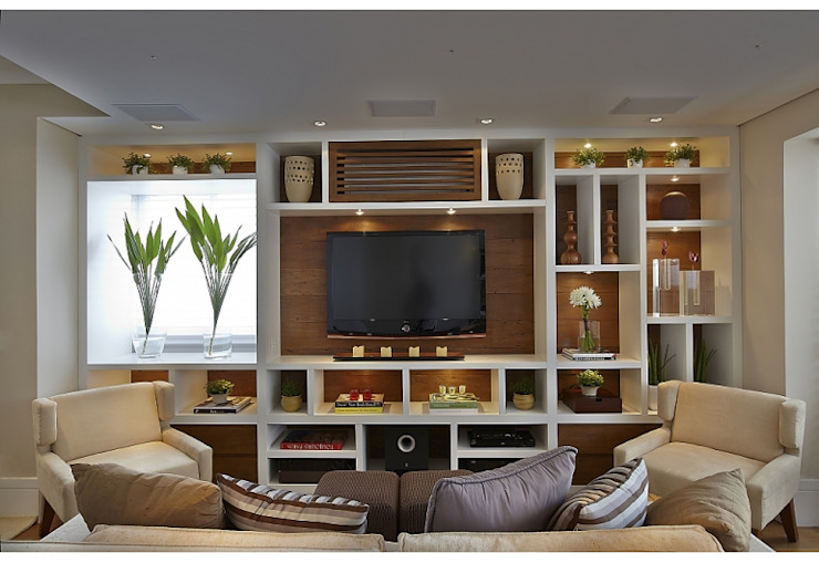 Living room by homify, Rustic Wood Wood effect