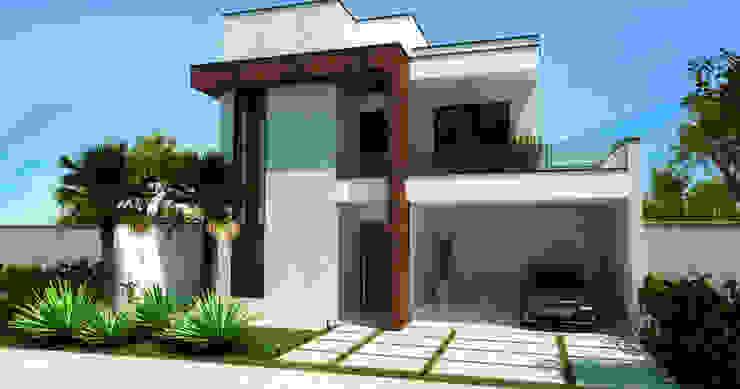 Sobrado Moderno e Aconchegante Casas modernas por ADRIANA MELLO ARQUITETURA Moderno