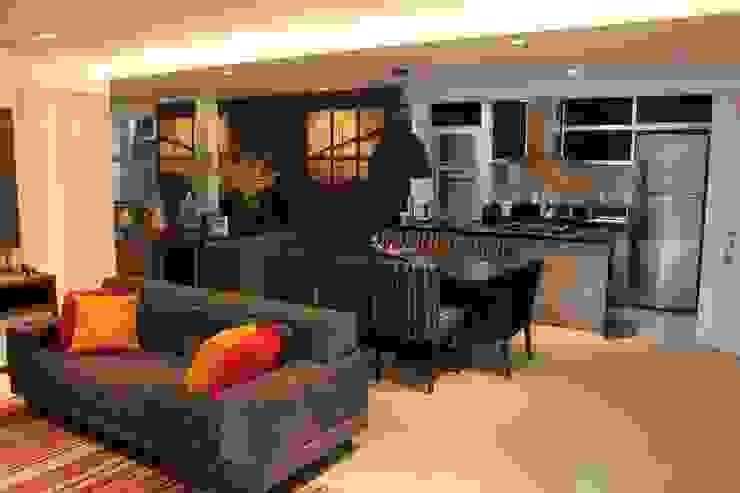 Camila Giongo Arquitetas Associadas - Decoração de Interiores ME Modern living room Ceramic Grey