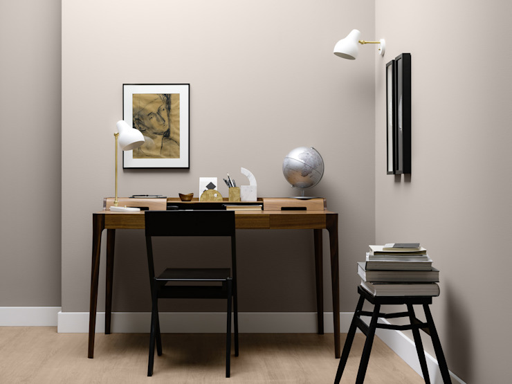 Modern Study Room and Home Office by SCHÖNER WOHNEN-FARBE Modern
