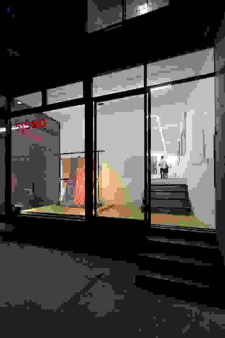 FACHADA PRINCIPAL Estudios y despachos minimalistas de FUNDAMENTAL Minimalista