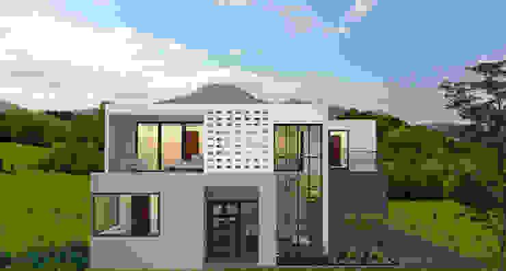Fachada de Estudio AL - Arquitectura-Diseño Interior Moderno
