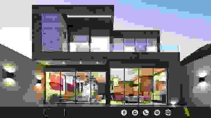 PROYECTO GI/L21/M55/AMORADA/MEX Casas modernas de ADC arquitectos Moderno Piedra