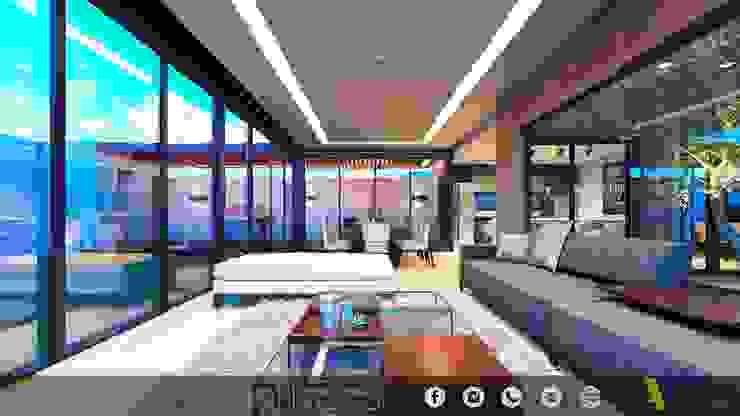 CATUJANES/L2/MEX Salones modernos de MONACO GRUPO INMOBILIARIO Moderno