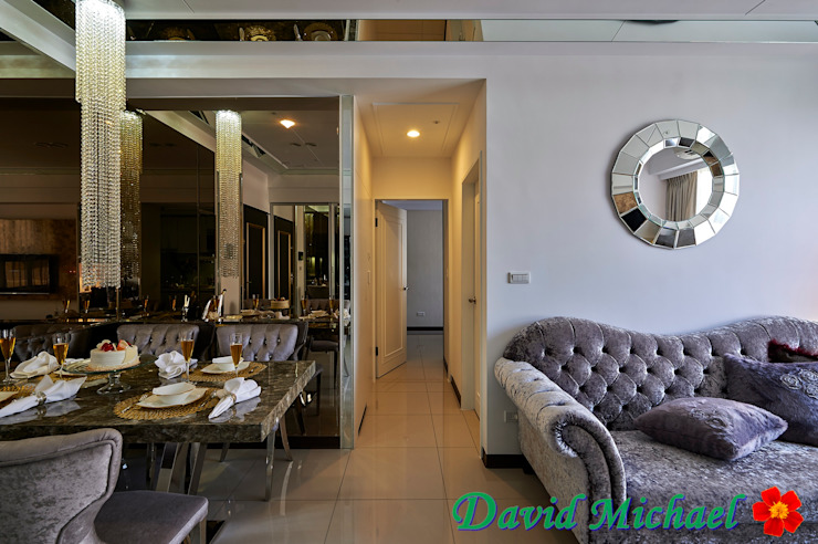 【潘朵拉的珠寶盒-下集】 經典風格的走廊,走廊和樓梯 根據 大衛麥可國際設計工程有限公司 古典風