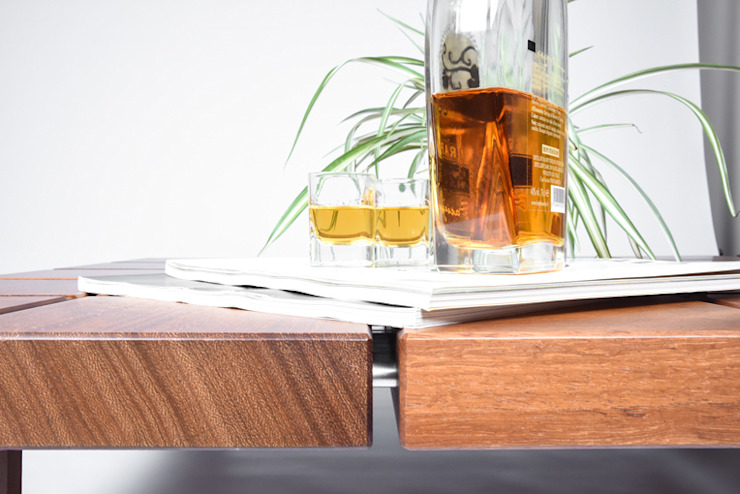Scandinavian style dining room by Ebanisteria Cavallaro Scandinavian Solid Wood Multicolored