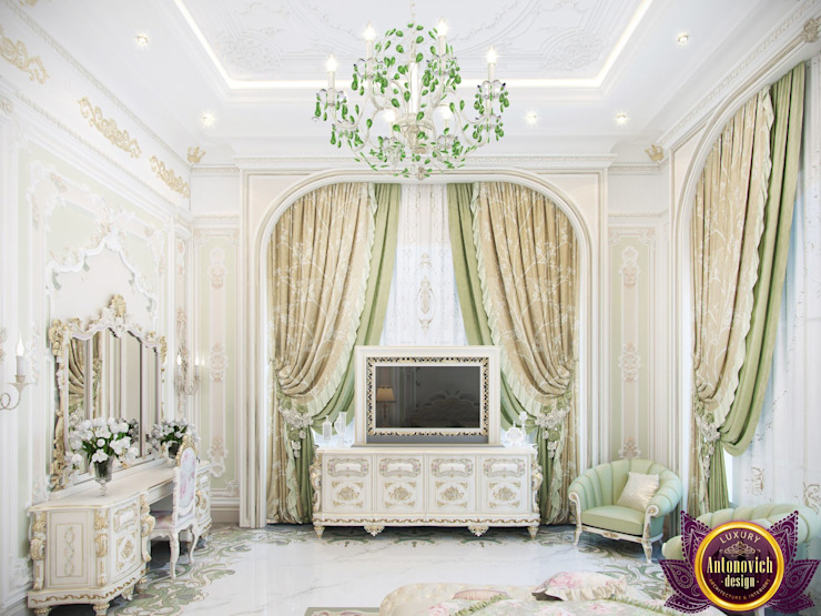  Bedroom interior in classic style by Katrina Antonovich Classic style bedroom by Luxury Antonovich Design Classic