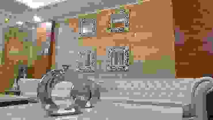 Bungalow Modern living room by Shadab Anwari & Associates. Modern