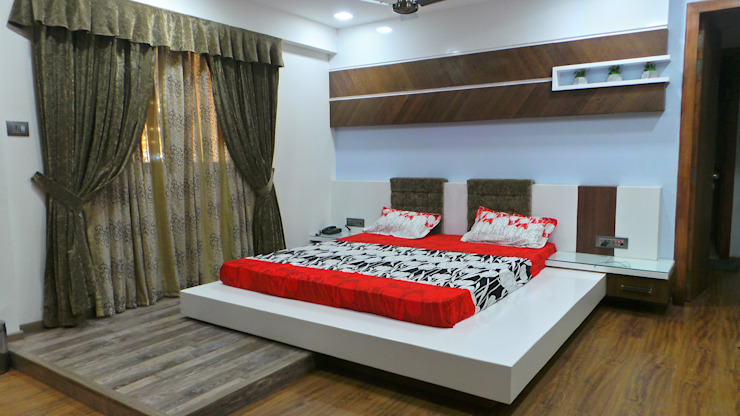 Bungalow Shadab Anwari & Associates. Modern style bedroom