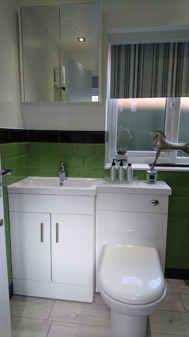 Bathroom Refurbishment and Re-design Kerry Holden Interiors Kamar Mandi Modern Green