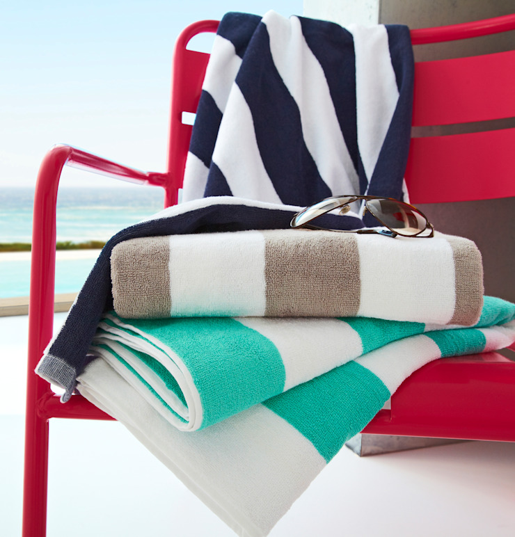 Stripe Pure Cotton Large Pool Towel King of Cotton Pool Cotton Multicolored