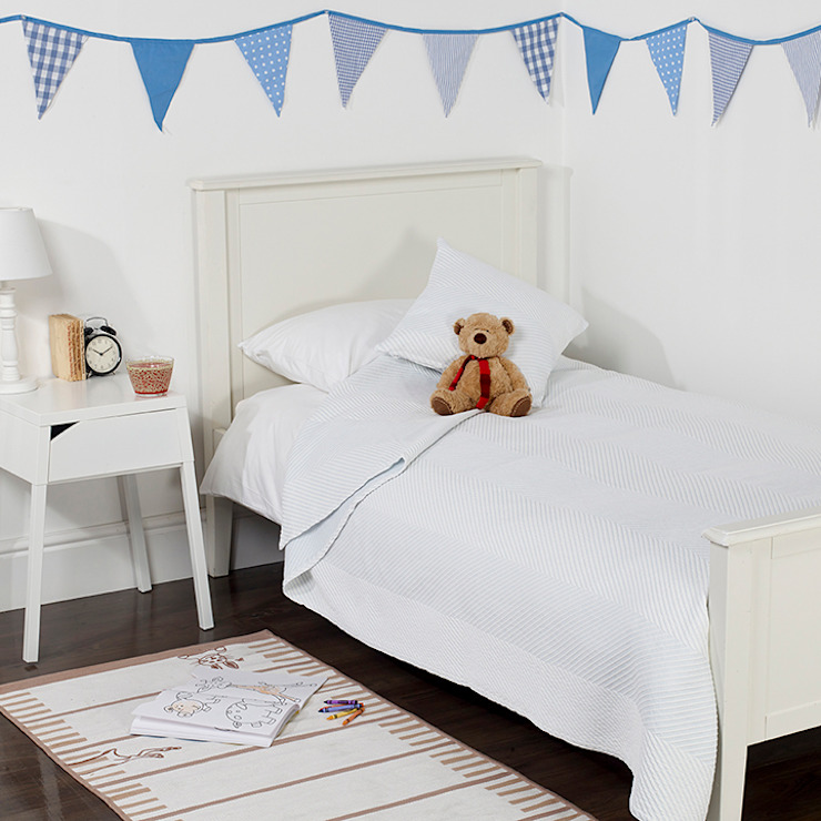 Stripes Children's Cotton Bedspread King of Cotton Nursery/kid's roomBeds & cribs Cotton White