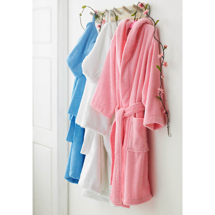 Childrens Pure Cotton Bathrobe with Hood King of Cotton Nursery/kid's roomAccessories & decoration Cotton Multicolored