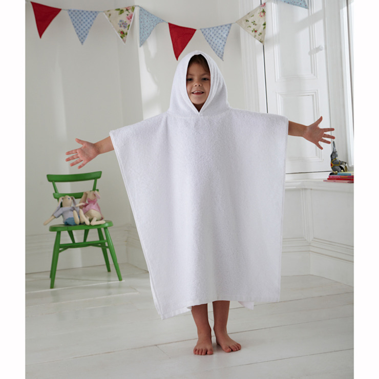 Kids Terry Towelling Poncho King of Cotton Nursery/kid's roomAccessories & decoration Cotton White