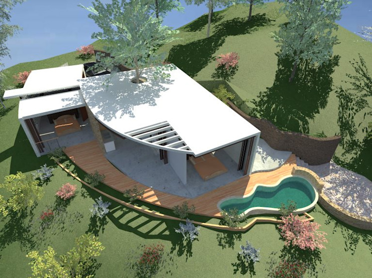Villa Buda Zen Vista aérea de Lobato Arquitectura