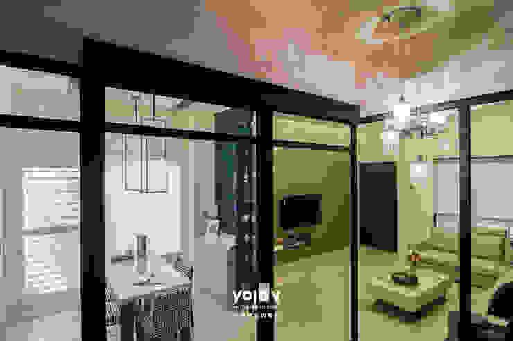 潺禪。垂影 - 現代隱禪 亞洲風玄關、階梯與走廊 根據 有容藝室內裝修設計有限公司 日式風、東方風