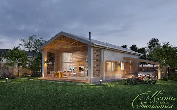 Country style house by Компания архитекторов Латышевых 'Мечты сбываются' Country