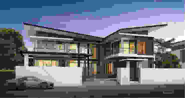 แบบบ้านสองชั้น 4 ห้องนอน 5 ห้องน้ำ ArchitectBKK โดย บริษัท อาร์คิเทค บีเคเค จำกัด