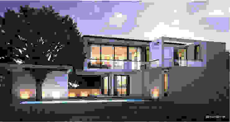 แบบบ้านสองชั้น 3 ห้องนอน 3 ห้องน้ำ BLACK-BEAM โดย บริษัท อาร์คิเทค บีเคเค จำกัด
