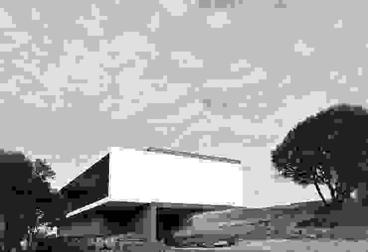 Moradia unifamiliar – construção de custos controlados Casas modernas por Cidades Invisíveis, arquitectura e design Lda. Moderno