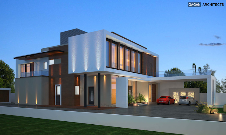 Cantilever House at Jalandhar by Gagan Architects