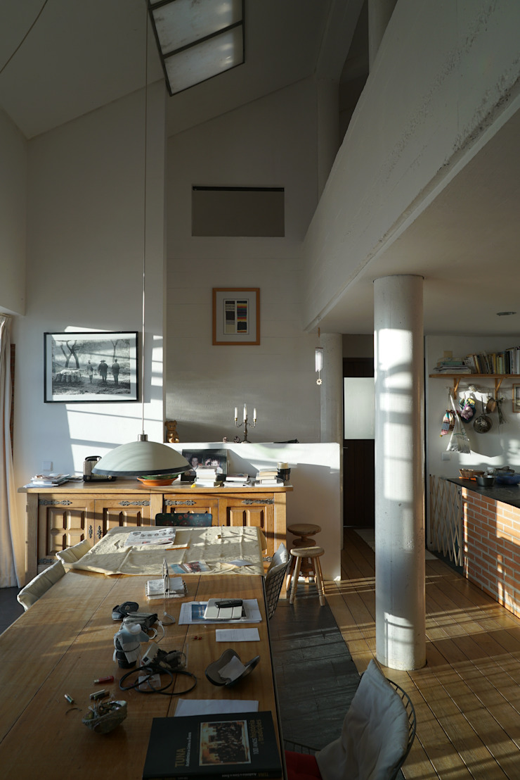 Moradia Unifamiliar – construção de custos controlados/elevada eficiência energética Salas de jantar mediterrânicas por Cidades Invisíveis, arquitectura e design Lda. Mediterrânico