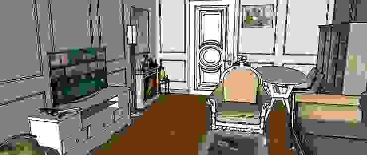 Moscow project Klasik Oturma Odası FOX IDEA Klasik Ahşap Ahşap rengi