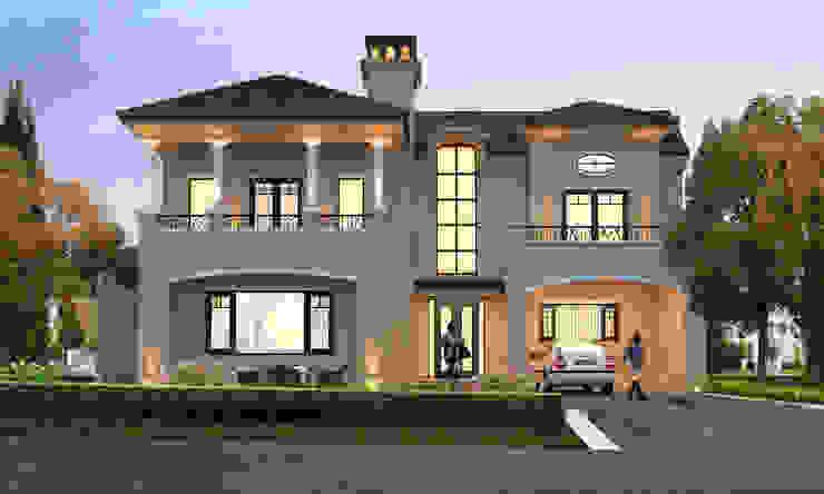 Italian Villa at Jandu Singha, Jalandhar by Gagan Architects