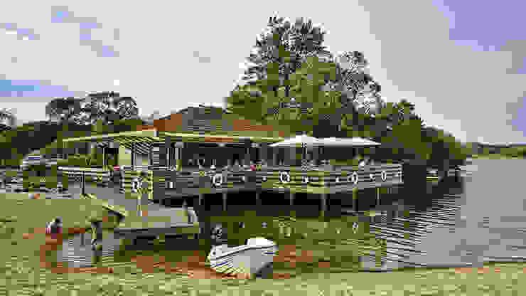 The Shack – Lake Bar por Essencia Architects Rústico