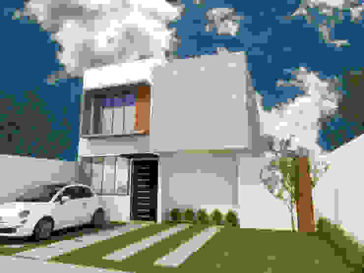 FACHADA PRINCIPAL Casas minimalistas de DLR ARQUITECTURA/ DLR DISEÑO EN MADERA Minimalista