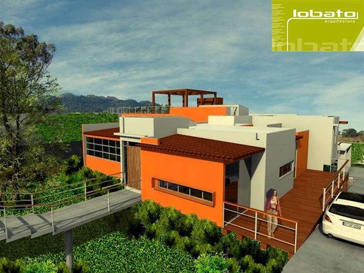 Perspectiva Casas modernas de Lobato Arquitectura Moderno