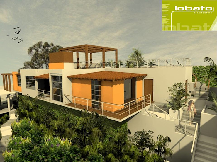 Vista Exterior Casas modernas de Lobato Arquitectura Moderno