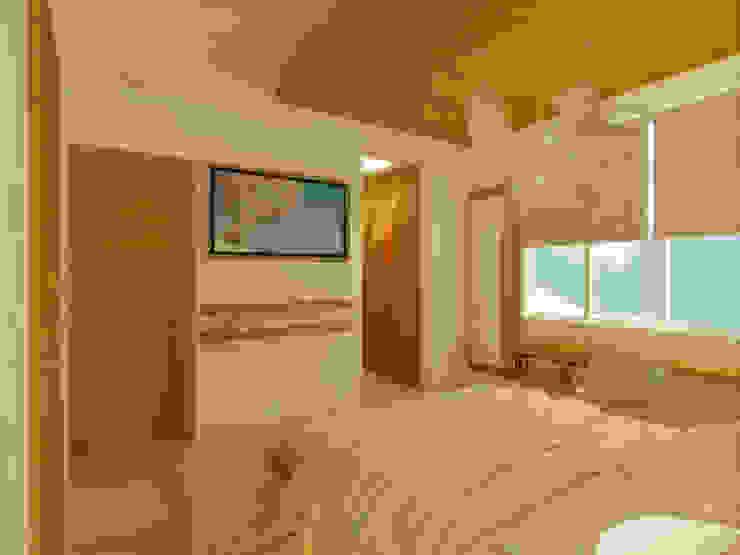 RECAMARA PRINCIPAL Dormitorios minimalistas de DLR ARQUITECTURA/ DLR DISEÑO EN MADERA Minimalista Madera Acabado en madera