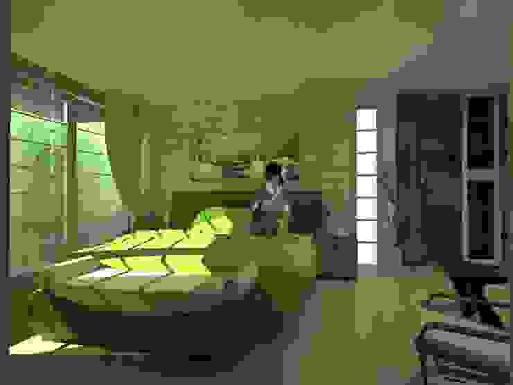 Nowoczesna sypialnia od Lobato Arquitectura Nowoczesny