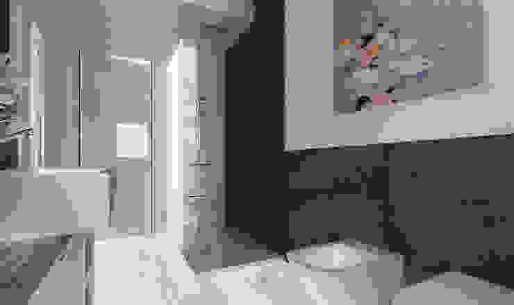 AG Interior Design Modern bathroom Black