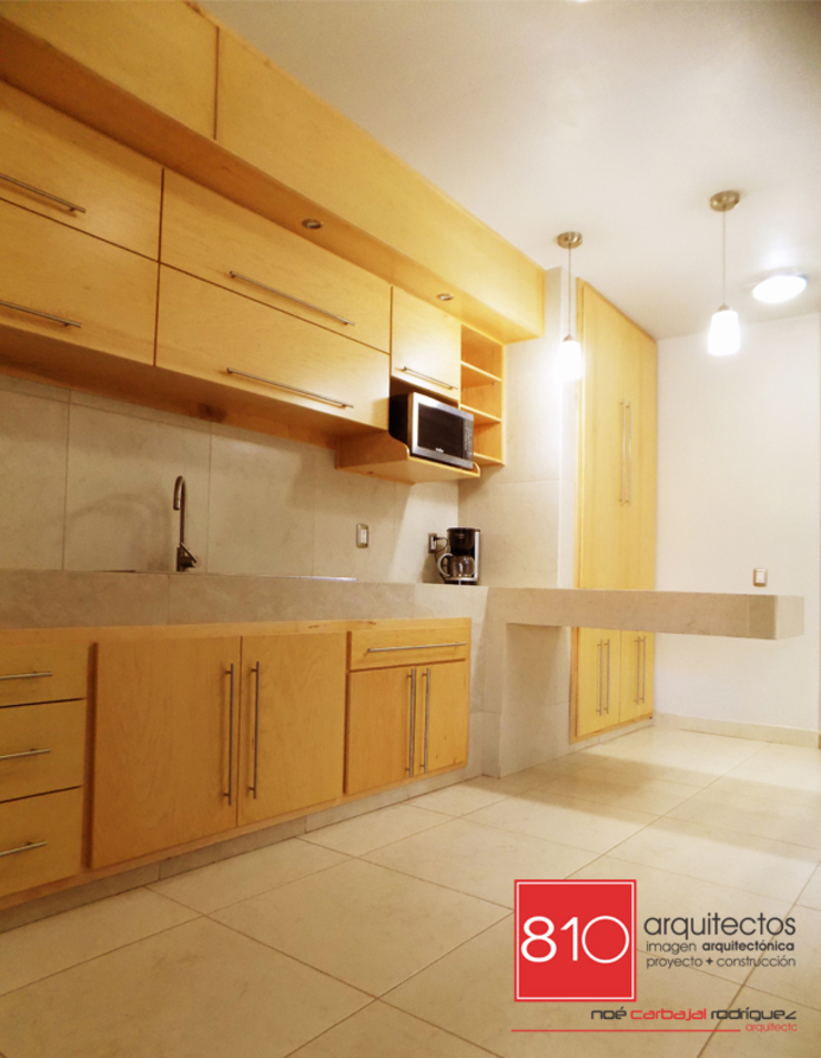 Casa Habitación y Notaria Parroquial Cocinas modernas de 810 Arquitectos Moderno