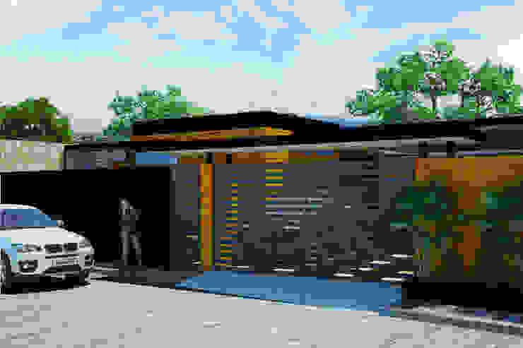 Fachada Exterior Casas modernas de LOFT ESTUDIO arquitectura y diseño Moderno Ladrillos