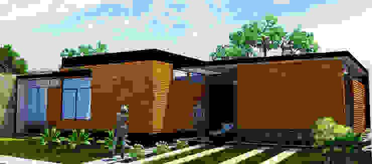 Fachada Interior Casas modernas de LOFT ESTUDIO arquitectura y diseño Moderno Ladrillos