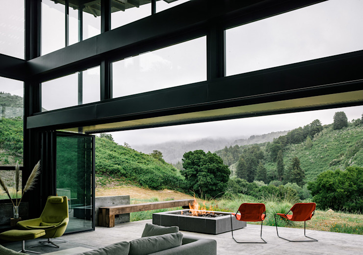 Butterfly House Modern Living Room by Feldman Architecture Modern Glass
