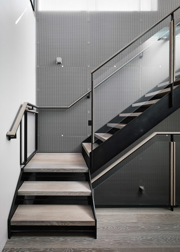 Telegraph Hill Modern Corridor, Hallway and Staircase by Feldman Architecture Modern