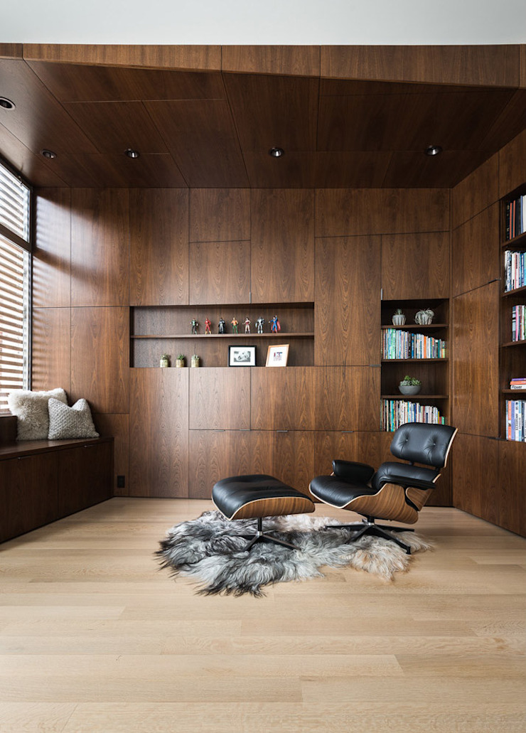 Fitty Wun Modern Study Room and Home Office by Feldman Architecture Modern