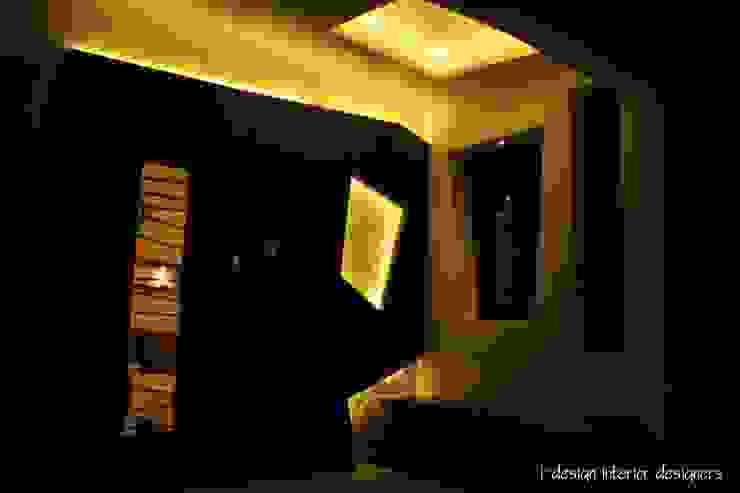 3bhk I - design interior designer's Modern corridor, hallway & stairs Plywood Brown