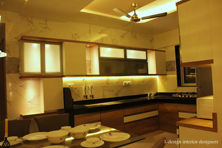 3bhk Modern kitchen by I - design interior designer's Modern Plywood