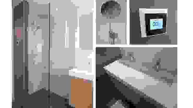 現代浴室設計點子、靈感&圖片 根據 Studio'OW Interieurontwerp 現代風
